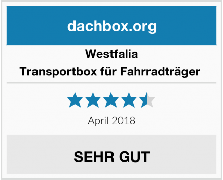Westfalia Transportbox für Fahrradträger  Test
