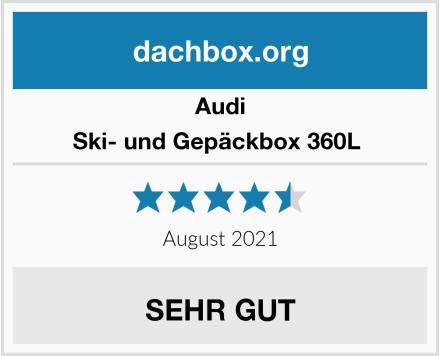 Audi Ski- und Gepäckbox 360L  Test