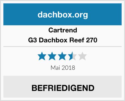 Cartrend G3 Dachbox Reef 270 Test