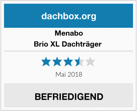 Menabo Brio XL Dachträger  Test