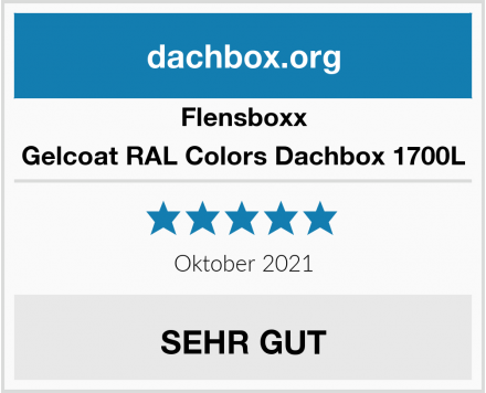 Flensboxx Gelcoat RAL Colors Dachbox 1700L Test