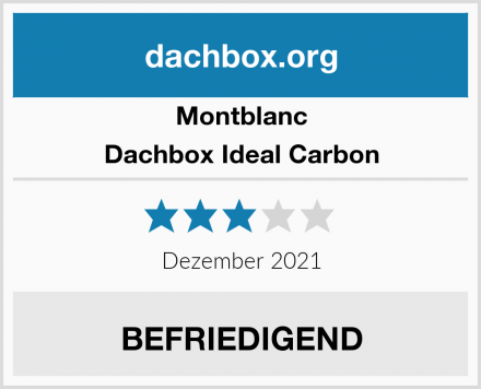 Montblanc Dachbox Ideal Carbon Test