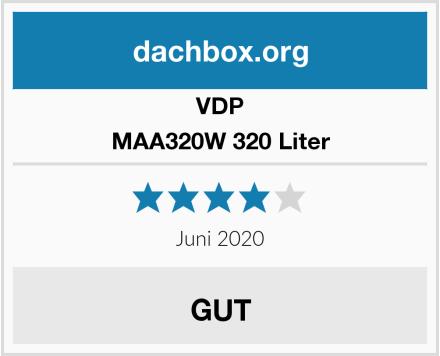 VDP MAA320W 320 Liter Test