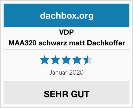 VDP MAA320 schwarz matt Dachkoffer Test