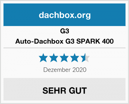G3 Auto-Dachbox G3 SPARK 400 Test