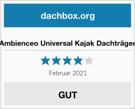 Ambienceo Universal Kajak Dachträger Test