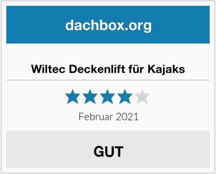 Wiltec Deckenlift für Kajaks Test