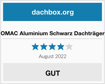 OMAC Aluminium Schwarz Dachträger Test