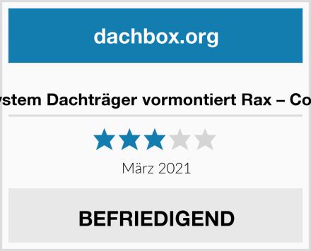 CAM System Dachträger vormontiert Rax – Cod.20005 Test